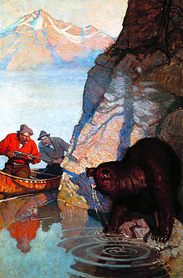Painting - Dangerous Bend by N C Wyeth