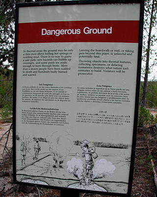 Photograph - Dangerous Ground by George Jones