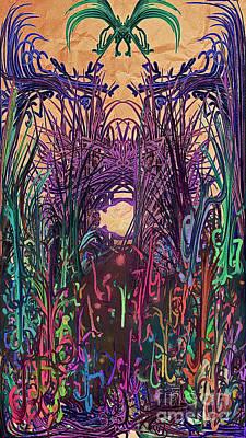 Digital Art - Dangerous Path by Reed Novotny