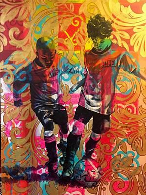 Wall Art - Painting - Dangerous Play by Clayton Singleton