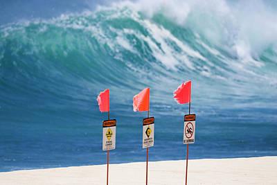 Photograph - Dangerous Shore-break. by Sean Davey