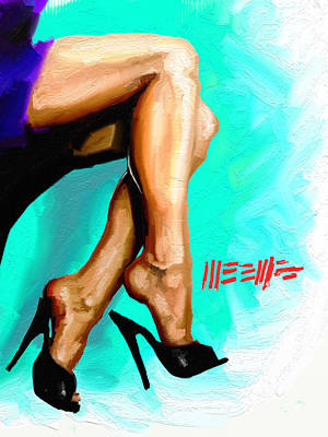 Painting - Dangle by Dillan Weems