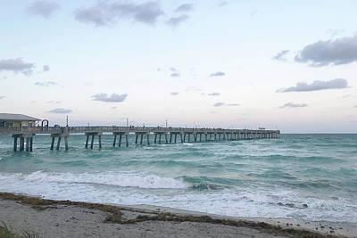 Photograph - Dania Beach Fishing Pier by Art Block Collections