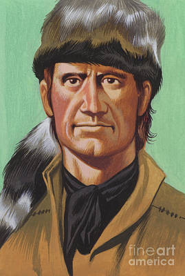 Painting - Daniel Boone by Ron Embleton
