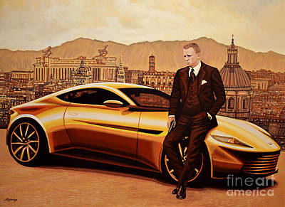 Waltz Painting - Daniel Craig As James Bond by Paul Meijering