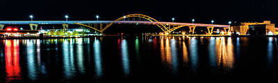 Photograph - Daniel Hoan Memorial Bridge by Randy Scherkenbach