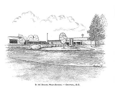 South Drawing - Daniel Hs by Greg Joens