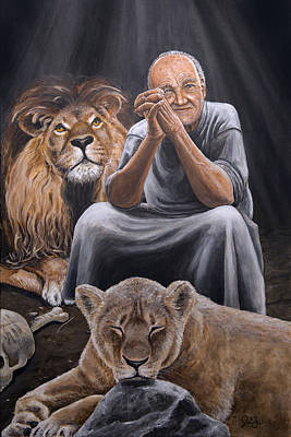 Book Of Daniel Painting - Daniel In Lion's Den by Joshua Lind