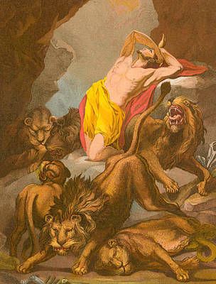 Daniel In The Lions' Den Print by James Northcote