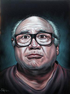 Cuckoo Painting - Daniel Michael Devito Jr Portrait by Jorge Terrones