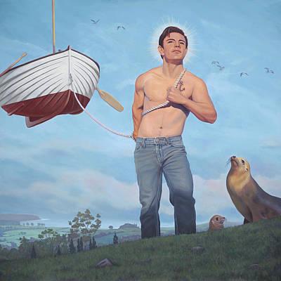 Wings Of A Bird Painting - Daniel, Patron Saint Of Wayward Mariners by Paul Bond