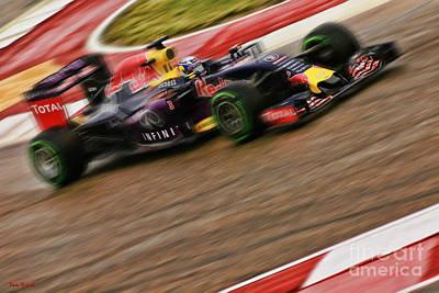Photograph - Daniel Ricciardo 2015 Redbull by Blake Richards