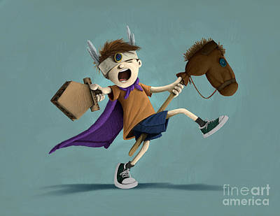 Play Pretend Digital Art - Daniel The Brave by Michael Ciccotello