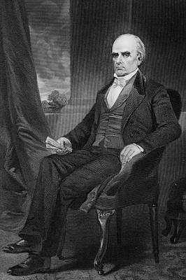 Orator Drawing - Daniel Webster 1792 To 1852. American by Vintage Design Pics
