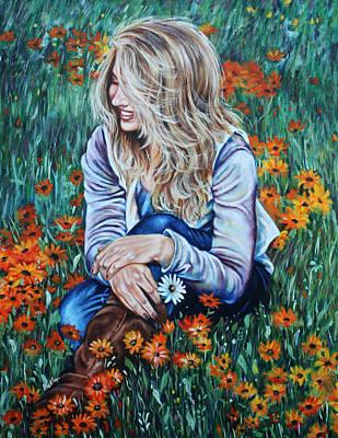Danielle Art Print by Ilse Kleyn