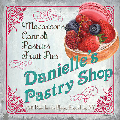 Pie Painting - Danielle's Pastry Shop by Debbie DeWitt