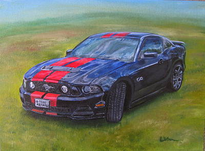 Painting - Daniel's Mustang by LaVonne Hand