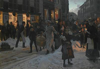 Christmas Time Painting - Danish Christmas Time Copenhagen by Erik Henningsen