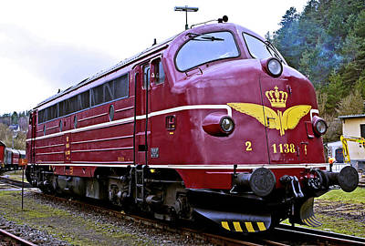 Photograph - Danish Diesel Electric Loccomotive by Daniel Hagerman