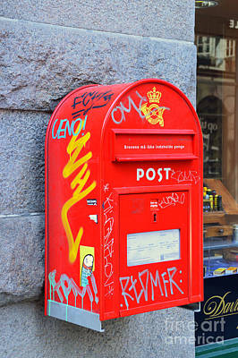 Vandalize Photograph - Danish Mailbox by Catherine Sherman