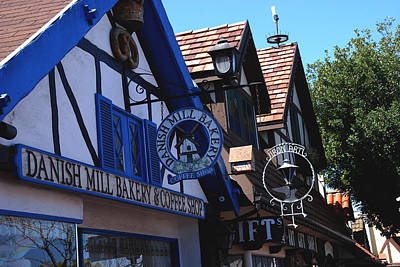 Danish Mill Bakery In Solvang California Art Print