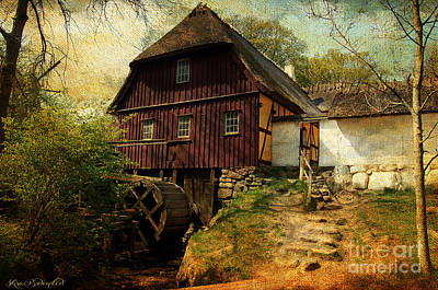 Photograph - Danish Watermill Anno 1600 by Kira Bodensted