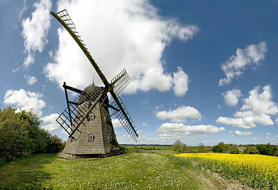 Danish Windmill Art Print by Robert Lacy