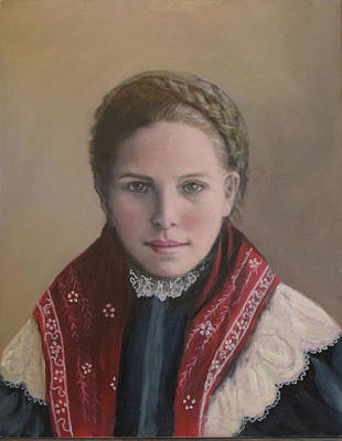 Painting - Danish Woman On Ellis Island by Sandra Nardone