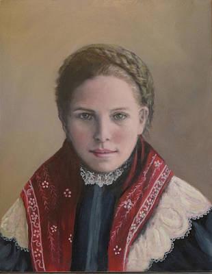 Painting - Danish Woman On Ellis Island by Sandra Nardone