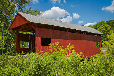 Photograph - Danley Covered Bridge by Jack R Perry