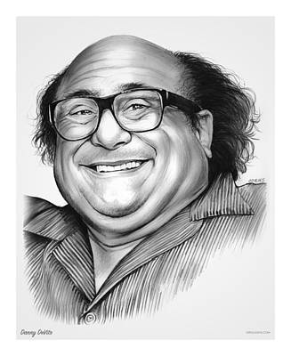 Globe Drawing - Danny Devito by Greg Joens