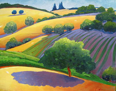 Rolling Hills Vinyards Painting - Danny by Gary Coleman