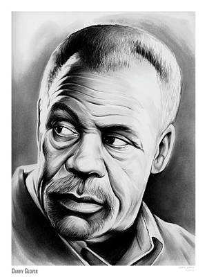 Pencil Sketch Drawing - Danny Glover by Greg Joens