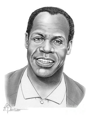 Famous People Drawing - Danny Glover by Murphy Elliott