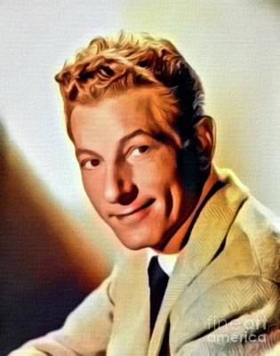 Danny Kaye, Hollywood Legend. Digital Art By Mb Art Print