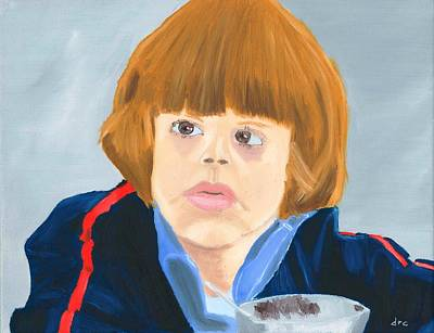 Kubrick Painting - Danny Lloyd In The Shining by Derek Clendening