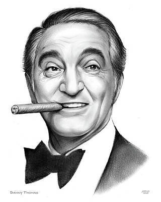 Drawing - Danny Thomas by Greg Joens