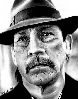 Drawing - Danny Trejo As Tortuga by Rick Fortson