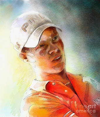 Painting - Danny Willett In The Madrid Masters by Miki De Goodaboom