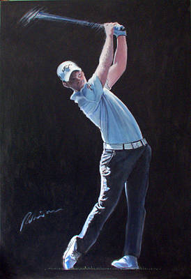 Painting - Danny Willett by Mark Robinson