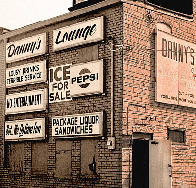 Photograph - Danny's Lounge by Richard Nickson