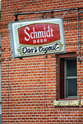 Photograph - Dan's Dugout Bar Winona Minnesota Yearous by Kari Yearous
