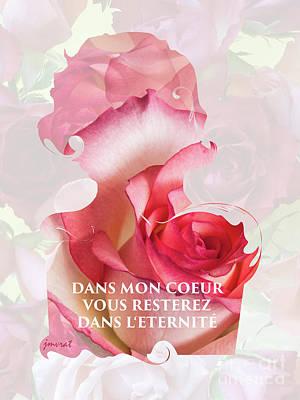 Longines Digital Art - Yes Valentine Love M2 by Johannes Murat