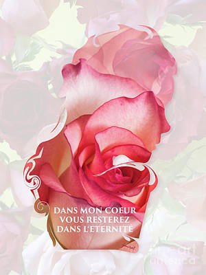 Kim Digital Art - Yes Valentine Gift M1 by Johannes Murat