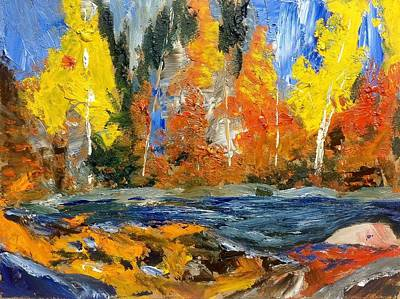 Painting - Dabs Of Fall by Desmond Raymond
