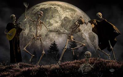 Creepy Digital Art - Danse Macabre by Daniel Eskridge