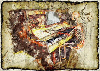 Music Score Mixed Media - Danse Macabre by Edelberto Cabrera