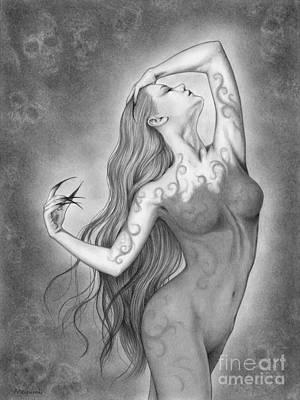 Drawing - Danse Macabre by Mayumi Ogihara
