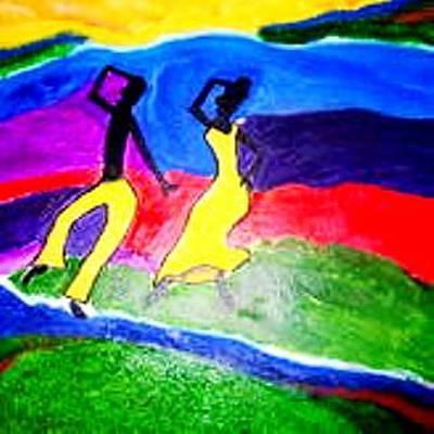 Painting - Danseurs by Lorna Lorraine