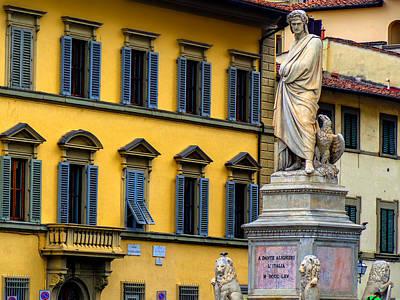 Photograph - Dante Alighieri At Piazza Di Santa Croce Florence Italy by Micah Goff